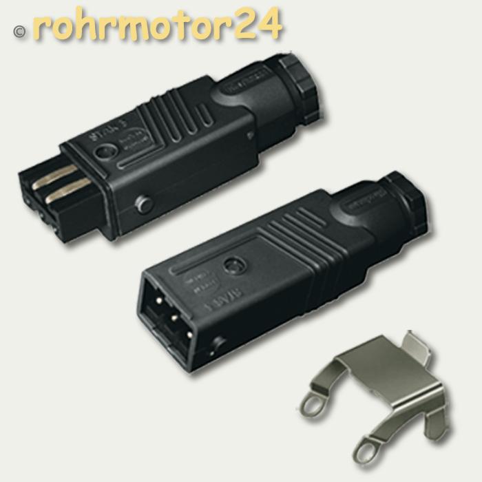 hirschmann stas 3 stecker stak 3 kupplung f rollladen. Black Bedroom Furniture Sets. Home Design Ideas