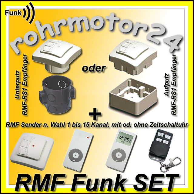 rolladenmotor rohrmotor funkmotor rolladen rollomotor funk fernbedienung markise ebay. Black Bedroom Furniture Sets. Home Design Ideas