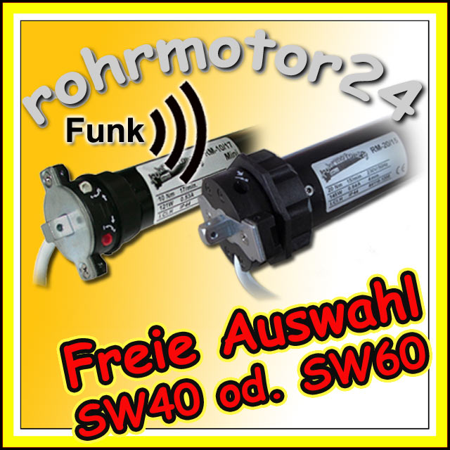 Funkmotoren SW40 oder SW60