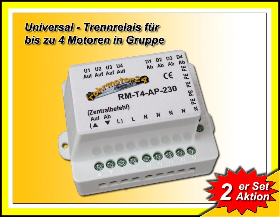 2x Trennrelais Zentral Steuerung F R Rolladen Antrieb