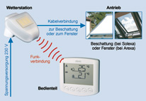 Rademacher 31000014 Set Rewiso 2696 Wetterstation Markisen
