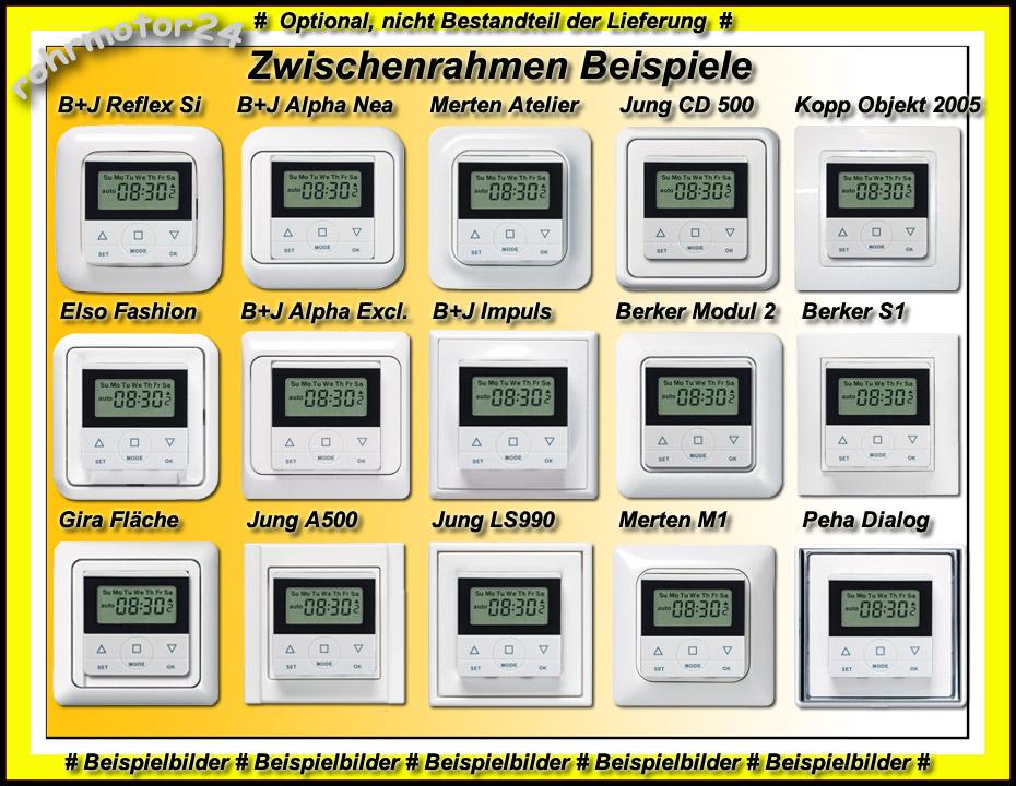 Zeitschaltuhr CasaSpirit 50 für Rolladen Jalousie Busch-Jäger Zwischenrahmen