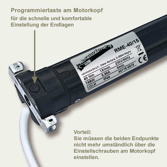 Rolladenmotor elektronisch RME-40/15