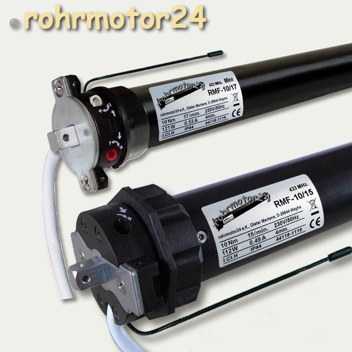 Rmf Funk Motor Antrieb Rohrmotor Funkmotor 10 Nm Sw40 Sw60