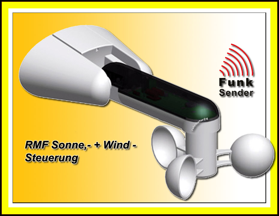 rmf wiso funk wind sonnen w chter sensor markisenw chter. Black Bedroom Furniture Sets. Home Design Ideas