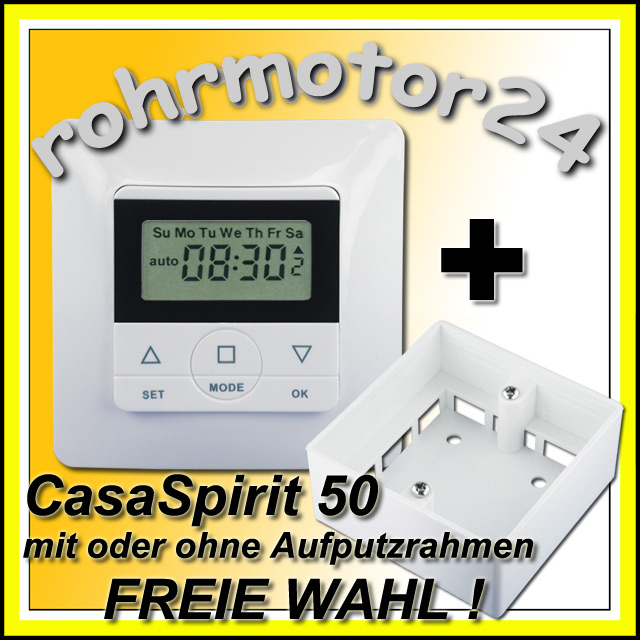 CasaSpirit 50 Rolladen Zeitschaltuhr Rollo Schaltuhr Rohrmotor Rollladen Motor