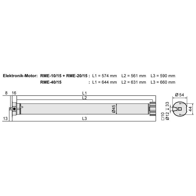 Außergewöhnliche Elektronischer Rollladenmotor 20 Nm RME-20 SW60 Rolladenmotor XN24