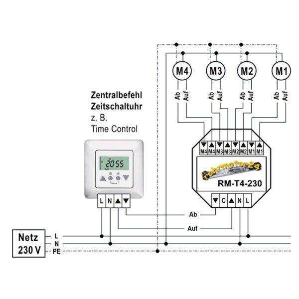 Bekannt Relais / Trennrelais für bis zu 4 Antrieben ohne Einzelbedienung BL27