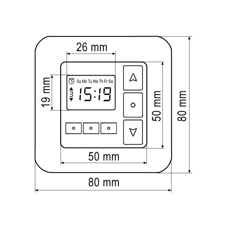 casaservo 50 rollladensteuerung comfort zeitschaltuhr up. Black Bedroom Furniture Sets. Home Design Ideas