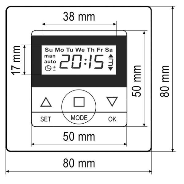 casaspirit 50 rollladensteuerung comfort zeitschaltuhr up gira system 55 standard 55 reinweiss. Black Bedroom Furniture Sets. Home Design Ideas